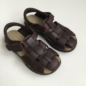 Leather Sandals Angler Fisherman 9.5M Stride Rite